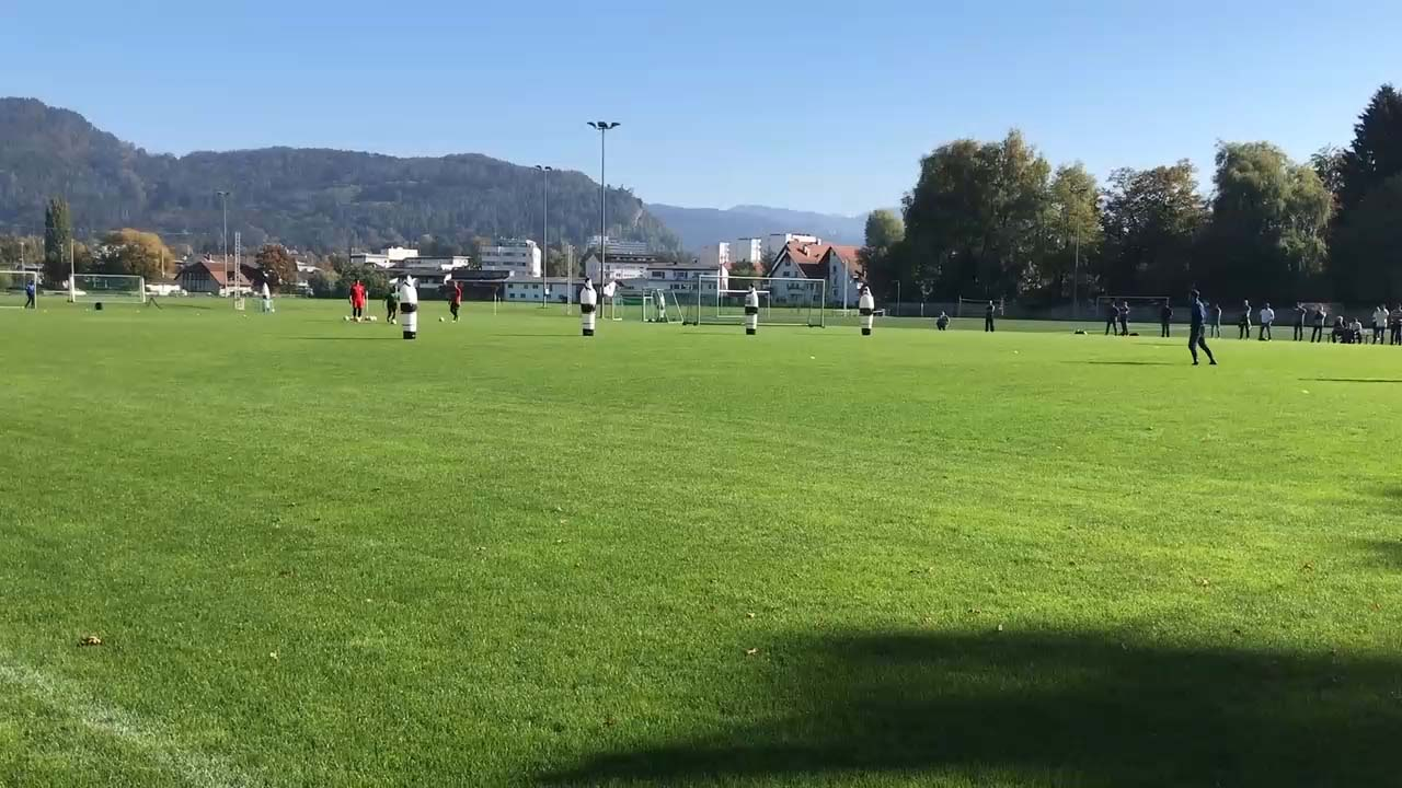 Position zum Ball anpassen